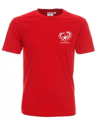 T-shirt men's red Haretski