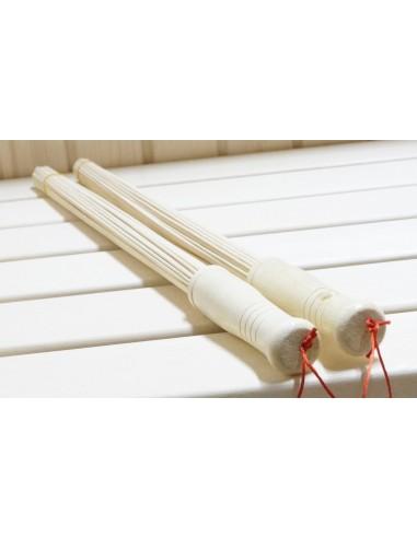 Бамбуковый веник 2 шт. для массажа в сауне/бане